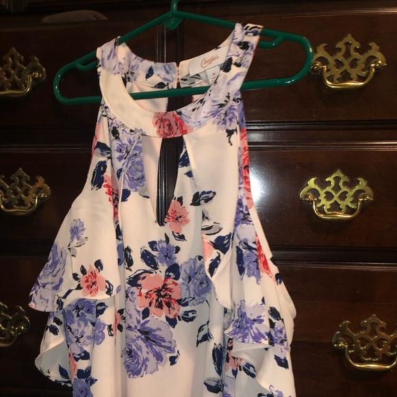Candie's Dresses & Skirts - Cold shoulder flowered dress NEVER WORN